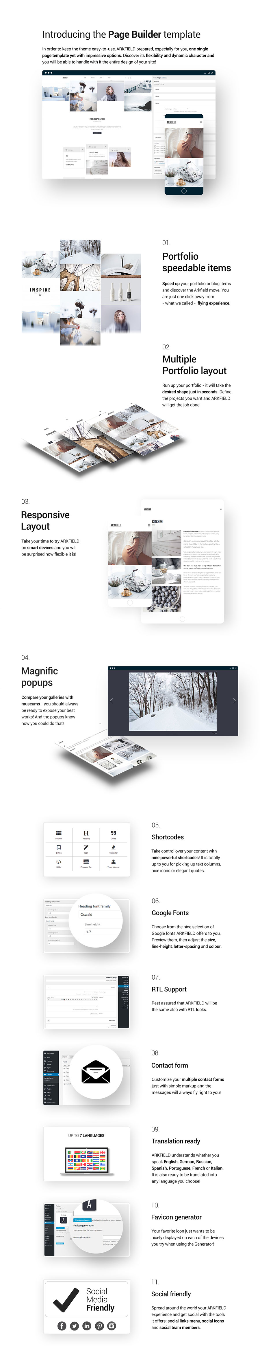 ARKFIELD - A Elegant Portfolio WordPress Theme