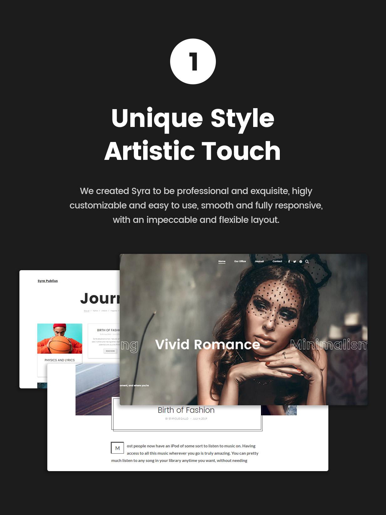 Syra – Minimal Showcase Portfolio WordPress Theme - 1